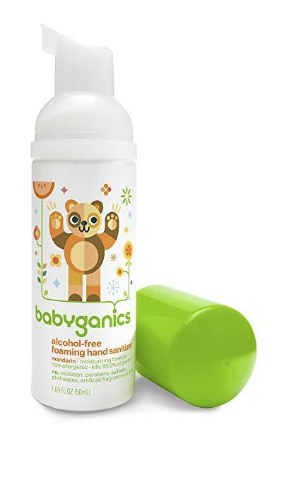 Nước rửa tay khô Babyganics cho bé (mùi quýt)
