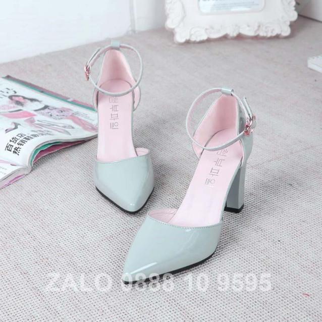 Giày cao gót 7cm màu đen - màu xám ms531-533 giá rẻ
