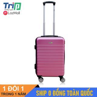 [MIỄN PHÍ SHIP] Vali Chống Trộm TRIP PC911 Size 20inch Tím hồng- Vali TRIP cao cấp size xách tay lên máy bay, dây kéo 2 lớp chống cậy phá thumbnail