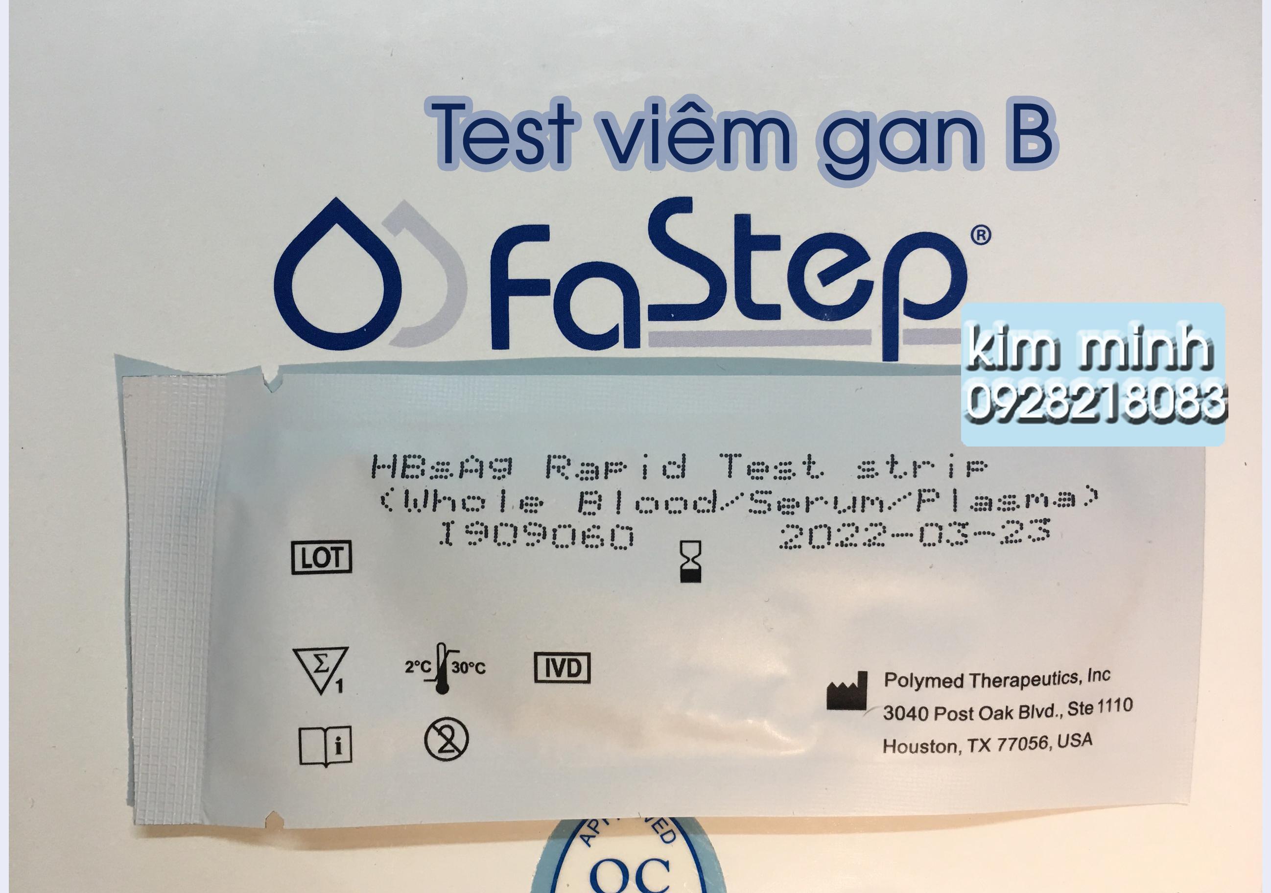 Test nhanh viêm gan B Fastep (HBsAg)