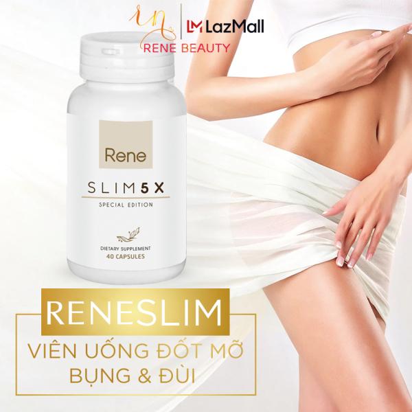 Viên Uống Giảm Cân Rene Slim 5X [Đốt cháy mỡ;Giảm sự thèm ăn;Ngăn sự hấp thu chất béo;Đào thải độc tố trong cơ thể;Tăng cường vẻ đẹp cho da] 40 viên - USA