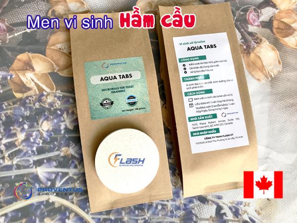 Vi Sinh Hầm Cầu Bể Phốt AQUA TABS  CANADA - 100gr (2 viên x 50gr)
