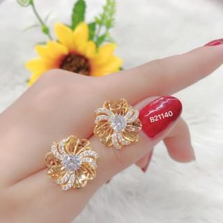 [HCM]Bông tai nữ JK Silver kiểu dáng Hàn Quốc mạ vàng 18K đính kim cương nhân tạo công nghệ xi vàng 4 lớp cao cấp không đen không phai màu không gây dị ứng trang sức nữ cao cấp bong tai nu sang trọng bông tai nữ cá tính U.bong52v thumbnail