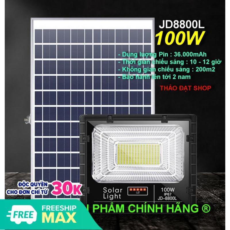ĐÈN NĂNG LƯỢNG MẶT TRỜI CHÍNH HÃNG JINDIAN JD-8800L (100W)