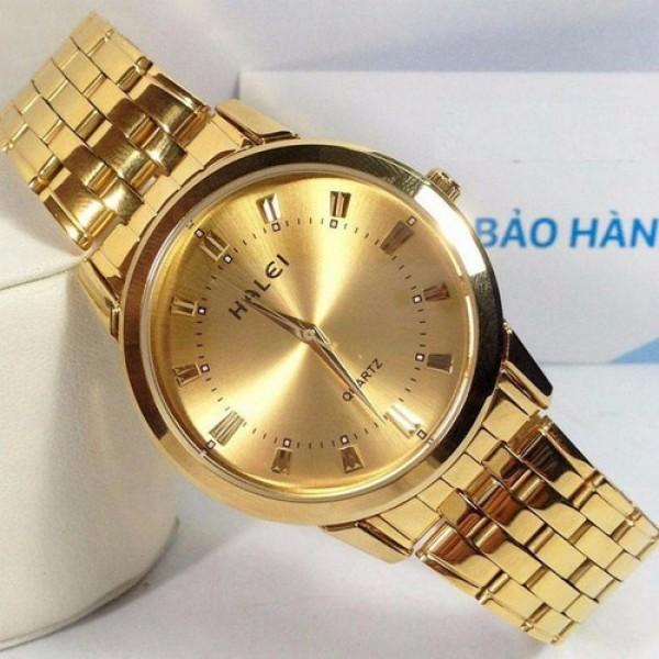 Đồng hồ nam Halei HL167 V6 màu vàng cực đẹp chống nước bán chạy