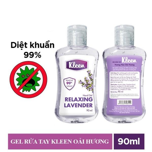 Gel Rửa Tay Khô Diệt Khuẩn 99% Kleen 90ml - Hương Oải Hương giá rẻ