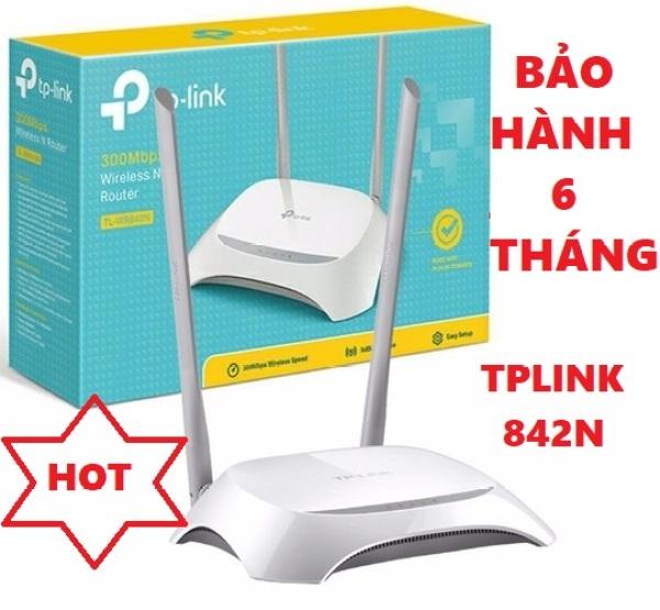 Bảng giá Bộ Phát Wifi TPlink, Modem Wifi TPLink 842N 2 râu chuẩn tốc độ 300 Mbps phát sóng khỏe, Cục phát wifi, Bộ kích sóng wifi - BH 6 Tháng Phong Vũ