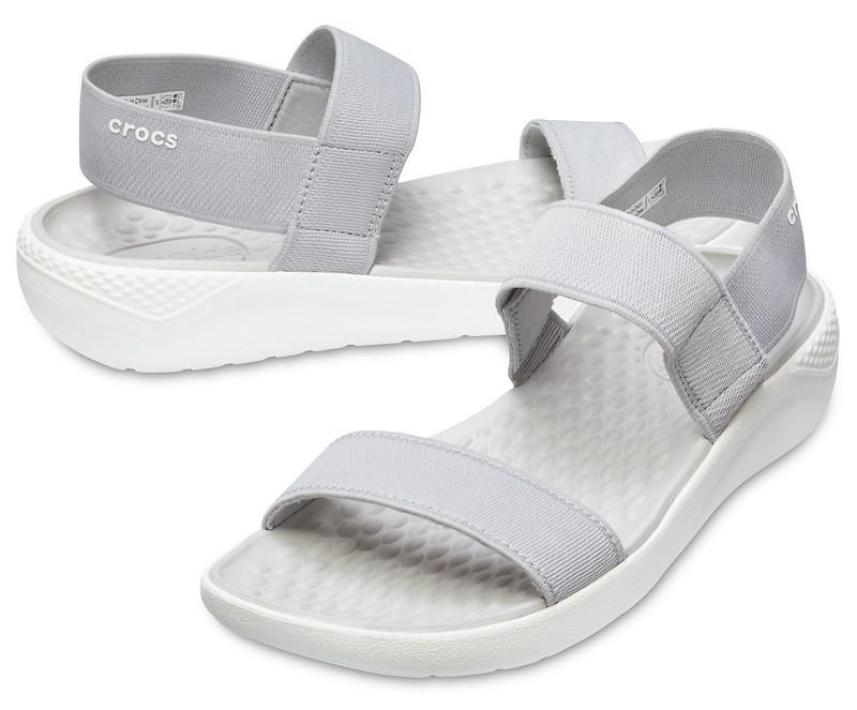 Sandal Crocs.. Lite Ride cho nữ màu ghi- mẫu mới 2018 giá rẻ