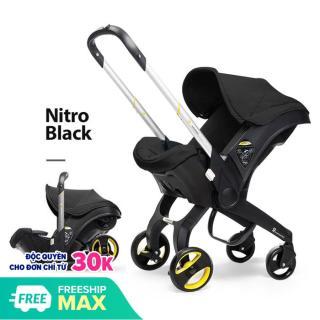 [Có Video] Ghế ngồi ô tô cho bé kết hợp xe đẩy và nôi xách chịu tải đến 13kg, ghế ngồi ô tô 3in1 Mstar mẫu mới 2020 (màu đen) thumbnail