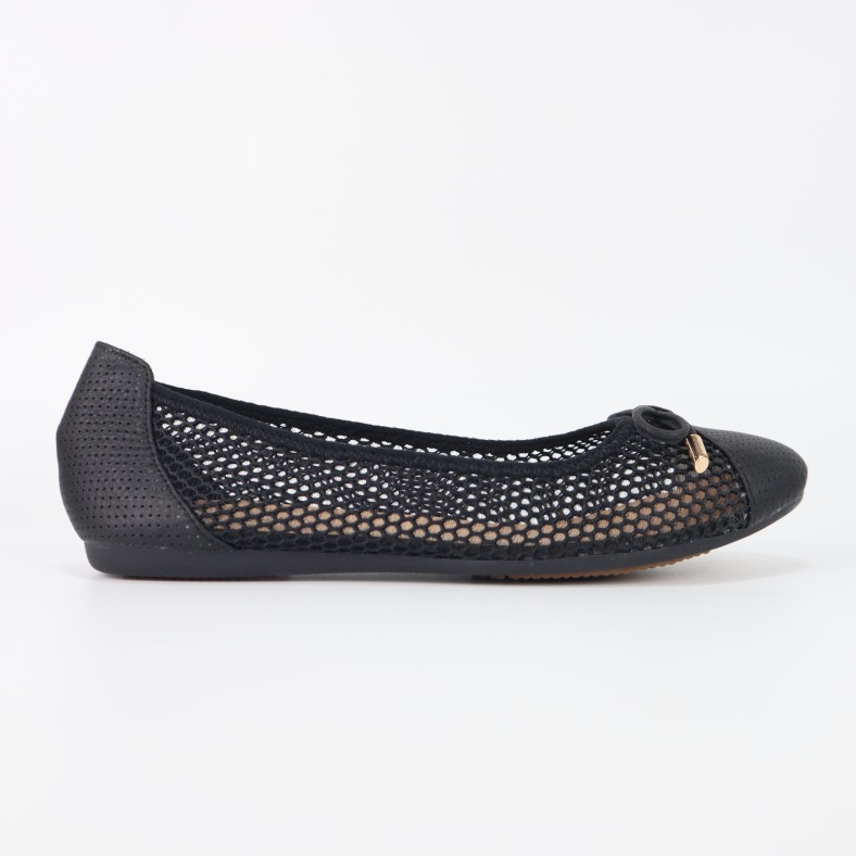 Giày búp bê da thật phối lưới Cillie 1135 giá rẻ