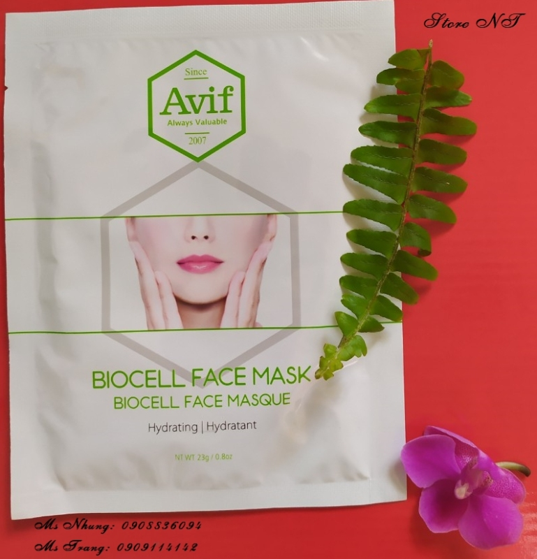002.MẶT NẠ AVIF BIO CELL HYDRATING FACE MASK