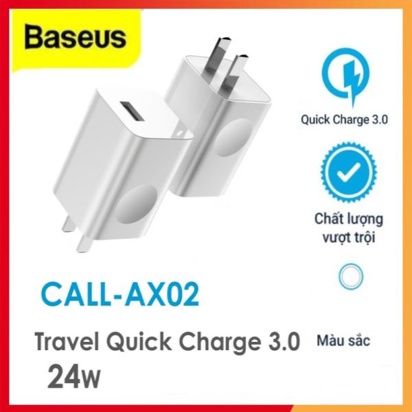 Giá Cốc sạc nhanh Baseus 24W Single USB Port, hỗ trợ sạc nhanh 3A, chất liệu ABS,PC siêu bền, chống cháy nổ, độ bền cao
