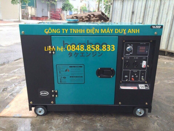 Máy phát điện chạy dầu bamboo 7kw BMB8800ET