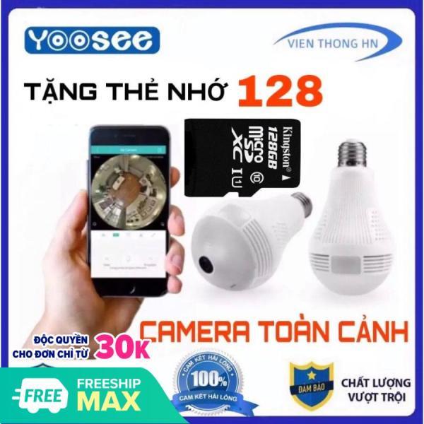 TẶNG THẺ 128GB  YOOSEE CAMERA 2.0 IP WIFI HD FULL MÀN HÌNH BÓNG ĐÈN ICSEE QUAY TOÀN CẢNH 360 ĐỘ NETCAM B2L