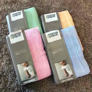 Chăn lưới cho bé - chăn lưới chống ngạt vải sợi tre siêu mền xuất Anh Mamas & Papas kích thước 120x160cm đủ màu thumbnail