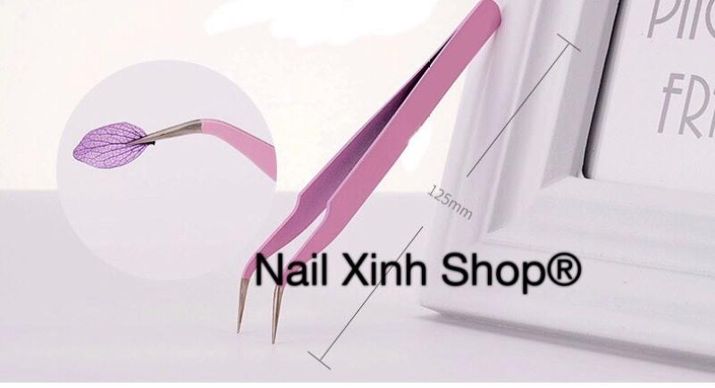 Nhíp gắp đá nail, nhíp gắp mi, dụng cụ nail - mi cao cấp, chuyên dụng nail - mi salon hot 2020