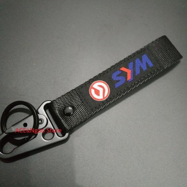 Móc chìa khóa vải 16x2.5 Yamaha Honda Suzuki SYM phong cách