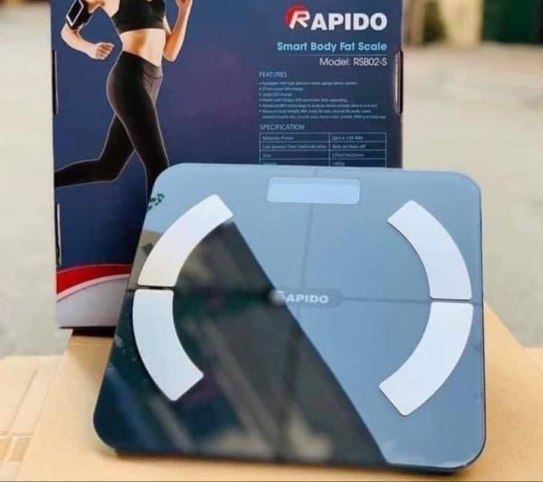 Cân Sức Khỏe Thông Minh Rapido RSB02-S Điều Khiển Bằng Bluetooth Nhỏ Gọn, Đo Được 10 Chỉ Số Cơ Thể