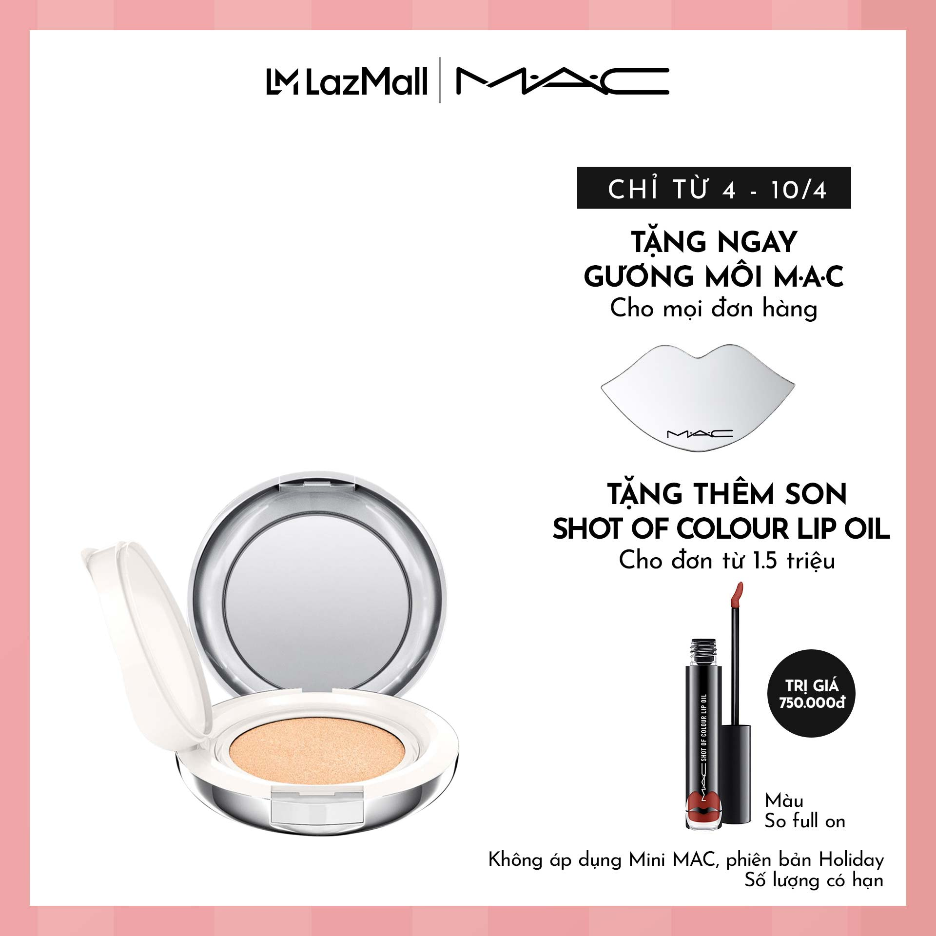 Hình ảnh Phấn nước MAC Lightful C + Coral Grass SPF 50/PA++++ Quick Finish Cushion Compact-Filled Compact 12g