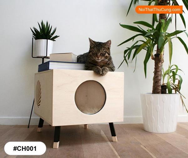 Nhà Gỗ Phong Cách Hiện Đại Cho Mèo CH001