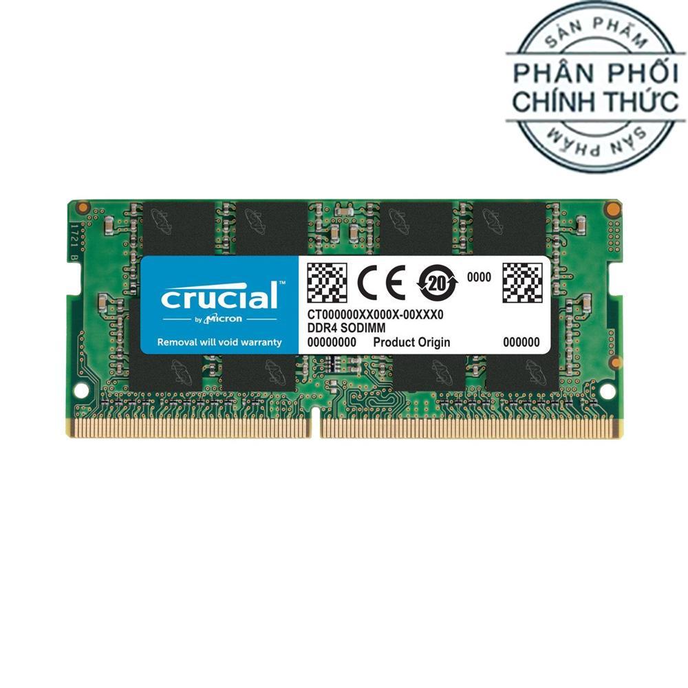 Ram Laptop Crucial Basics DDR4 16GB Bus 2400MHz CL17 1.2v CB16GS2400 - Hãng phân phối chính thức