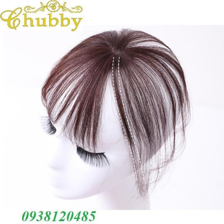 Tóc mái thưa 3D bằng tóc thật, có da đầu chính hãng