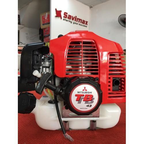 Đầu động cơ máy cắt cỏ 2 thì Mitsubishi TB43, động cơ gắn máy phun th.uốc