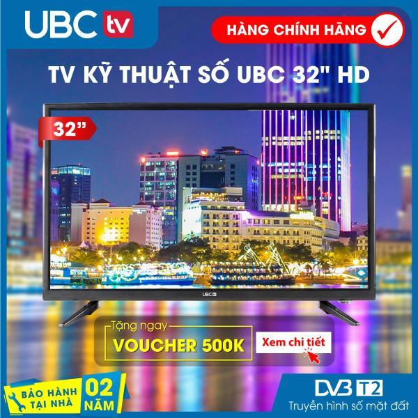 Tivi UBC HD 32inch DVB-T2, (đen), Model: 32P700S, Bảo hành 2 năm tại nhà công nghệ dò kênh tự động Free-to-Air, âm thanh Dolby, Hàng nguyên Seal, Tivi giá rẻ