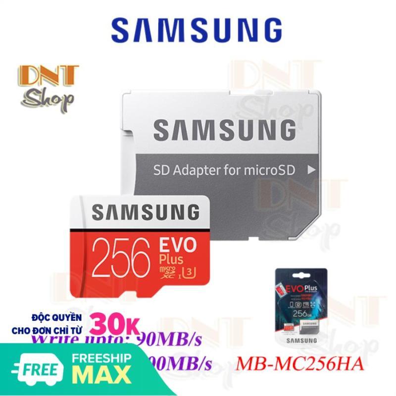 Thẻ nhớ MicroSDXC Samsung EVO Plus 256GB U3 4K box Hoa Kèm Adapter - Made in Korea/Philippines New 2020
