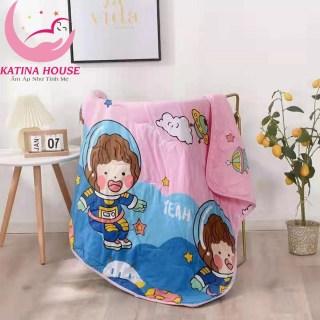 Chăn mền trẻ em cotton đũi mềm thoáng mát 1mx1m4 Chăn hè mỏng cho bé đi học, ngủ máy lạnh thumbnail