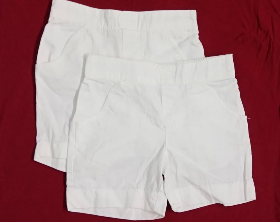 combo 2 quần trắng cho bé trai(dành cho bé có bụng)8kg-11kg