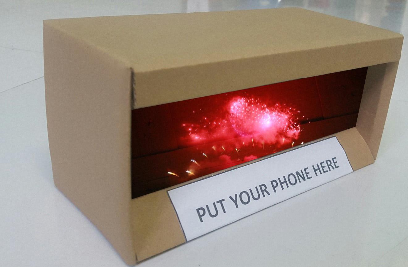 Máy chiếu 3D dành cho điện thoại di động 4-6 inch