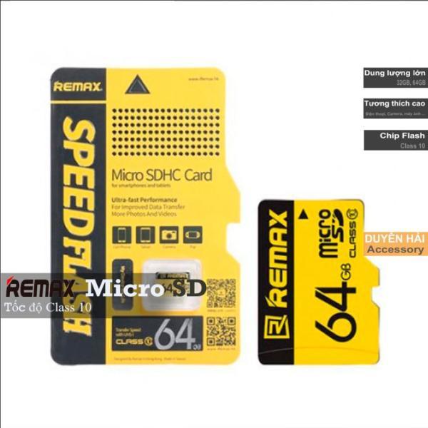 Thẻ nhớ Micro SD Remax 64GB/32GB tốc độ Class 10