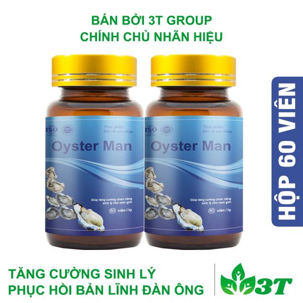 Combo 2 Hàu Oyster Man (Hộp 60 Viên) Tăng Cường Sinh Lý Nam Giới, Bổ Sung Kẽm Và Khoáng Chất