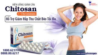 Chitosan + Chrom Viên uống giảm cân, Hạ mỡ máu thumbnail