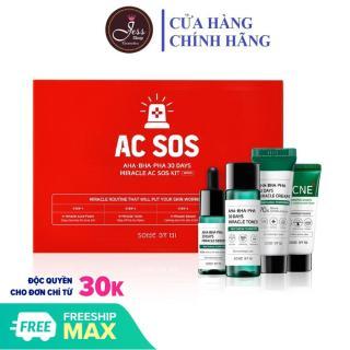Bộ Kit 4 Sản Phẩm Dưỡng Da Làm Giảm Mụn Some By Mi AHA-BHA-PHA 30 Days Miracle AC SOS Kit thumbnail