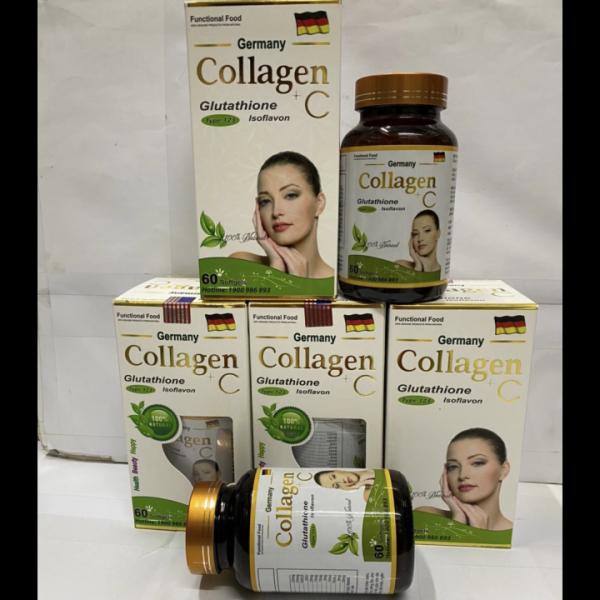 (Chính hãng) Viên uống đẹp da Collagen +C giảm thâm nám tàn nhang ngừa nếp nhăn chống lão hóa - Hộp 60 viên Chính hãng
