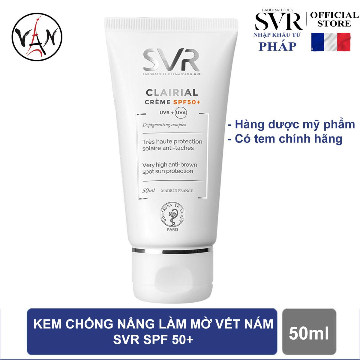 Kem làm mờ vết nám và chống nắng SVR spf50+ 50ml nhập khẩu