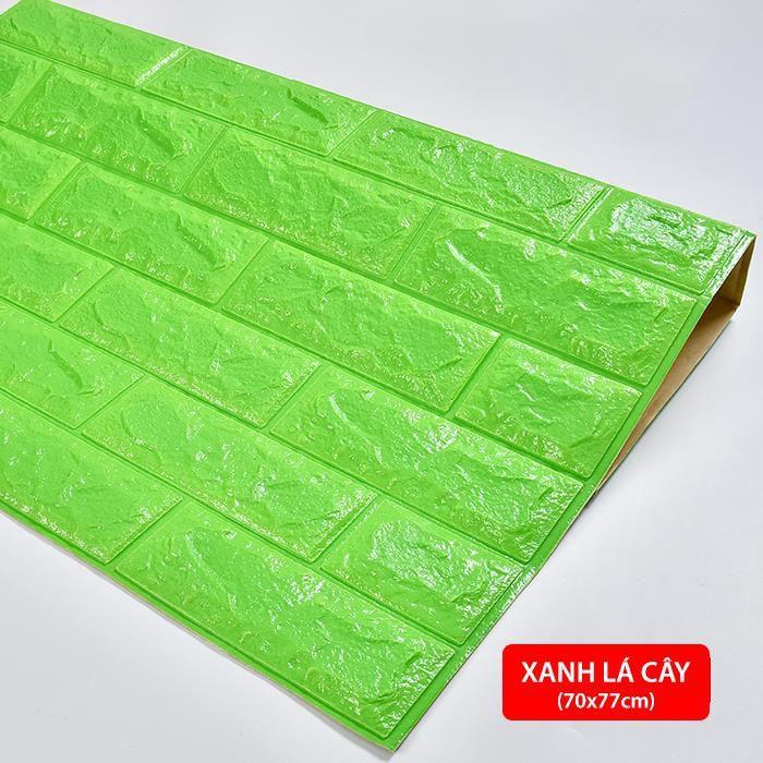 Combo 5 tấm xốp dán tường 3D giả gạch -  Chịu lực, chống nước, chống ẩm mốc - Khổ lớn  70x77cm - Có keo dán sẵn siêu dính siêu chặt