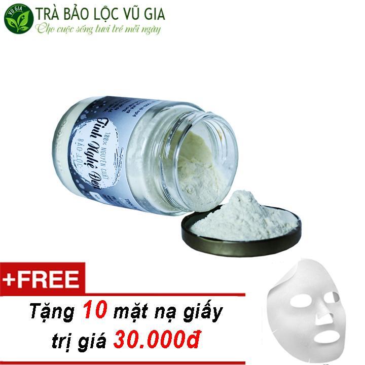 Tinh Nghệ Đen Nguyên Chất Bảo Lộc Vũ Gia  (100gr/hũ) + Tặng 10 Mặt Nạ Giấy Đắp Mặt ( tẩy tế bào chết ) nhập khẩu