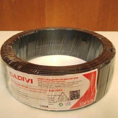Dây điện Cadivi CV 1.5mm cuộn 100m màu đen