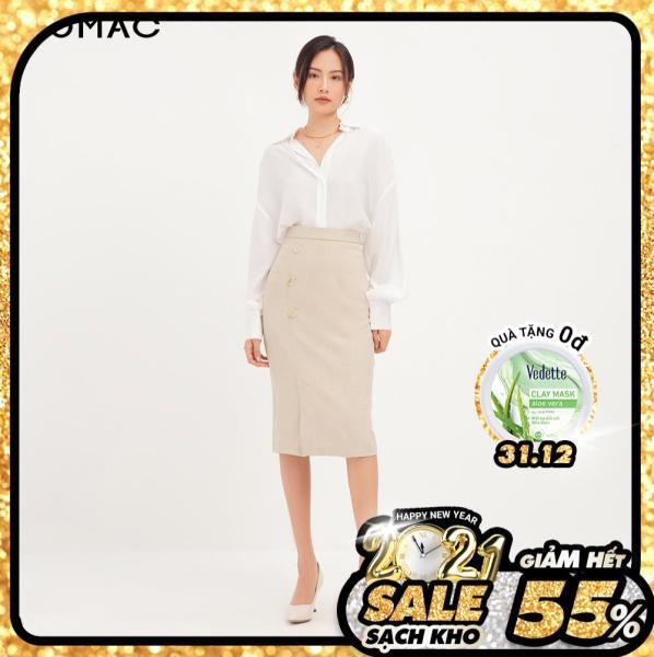 (SALE 50%)Chân váy nữ GUMAC thiết kế phối 3 nút VA12121