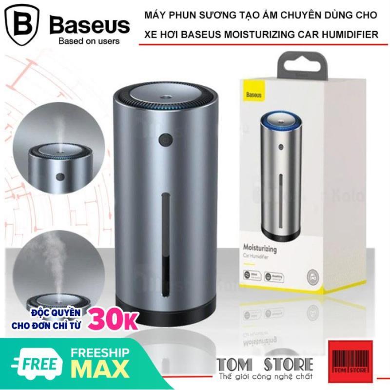 Máy phun sương tạo ẩm chuyên dùng cho xe hơi, bàn làm việc Baseus Moisturizing Car Humidifier (300ml) tạo độ ẩm cho da