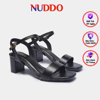 Giày sandal cao gót nữ thời trang công sở Nuddo cao cấp 5cm da mền thumbnail