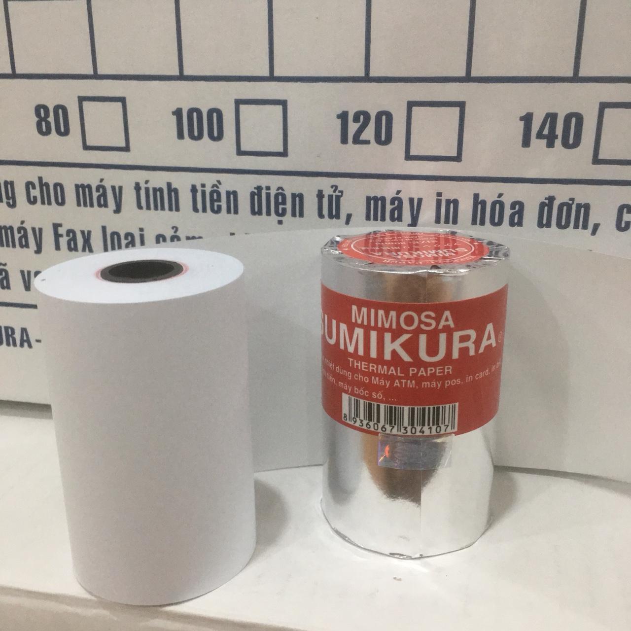 Mua Combo 10 cuộn giấy In Bill Sumikura khô 80 Φ 45. Thương hiệu Việt Nam chất lượng cao. Hàng bao đổi trả