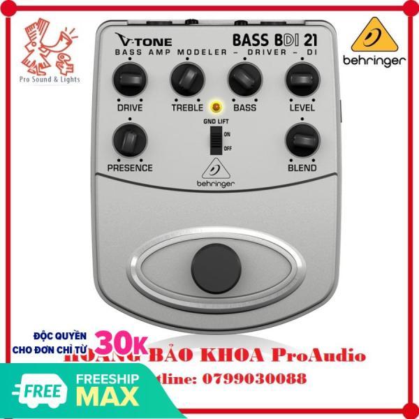 [HCM]Guitar Stompboxes - Phơ cục - Fuzz - Behringer BDI21 Bass Amp Modeler/Direct Recording Preamp/DI Box