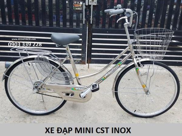 Mua XE ĐẠP TỪ THIỆN CST - HỌC SINH - MINI INOX LOẠI 1: 24inches (bánh 600mm)