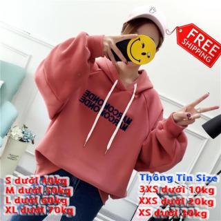 [FREESHIP TOÀN QUỐC] Áo hoodie nữ 4YOUNG form rộng cao cấp Marcom thumbnail