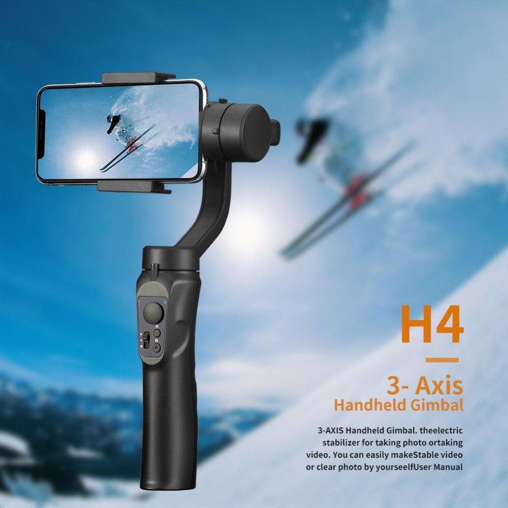 Giá Smooth Smart Phone Stabilizing Travel H4 Holder Portable Gift Handhold Gimbal - Smooth H4 3-Axis Handheld Smartphone Gimbal Stabilizer for iPhone XS XR 8Plus 8 Samsung S9 S8 S7 Galaxy Huawei & Action Camera