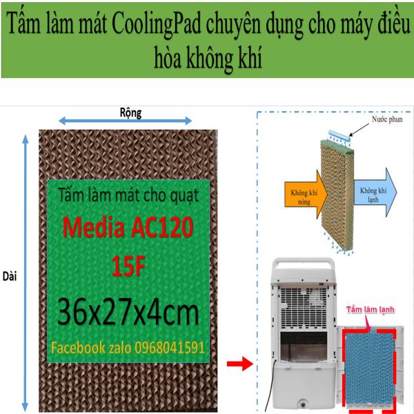 Bảng giá Tấm làm mát Cooling pad chuyên  dụng cho quạt điều hòa Midea AC120 15F  kích thước 36x27x4cm Điện máy Pico